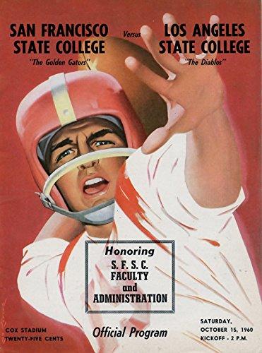 Los Angeles State Football - October 15, 1960 San Francisco State College Golden Gators Vs.Los Angeles State Diablos Football Program