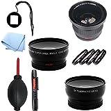 SAVEoN Gopro Lens Adapter with Fisheye & Macro Ultimate Lens Kit for Hero Hd 1 3 & 3+