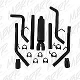 "MBRP S5146BLK Black Coated 2 1/2"" Dual Split Rear Cat Back through Stock Bumper"