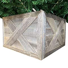 Spruce up your Christmas Tree, using this Rustic Wooden Tree Base/Collar by BarnwoodUSA. Happy Holidays! This is the year to ring in the cheer with the BarnwoodUSA Wooden Christmas Tree Box. Made with a natural and classic look, this tree col...