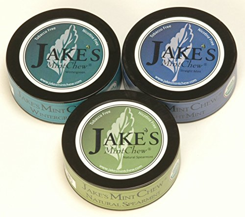 Jake's Mint Chew 3 tin variety pack by Jake's Mint Chew