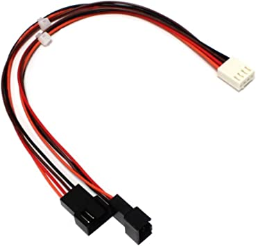 BeMatik - Cable duplicador de alimentación de Ventilador 4pin a ...