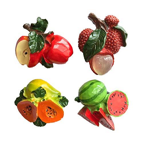 3D Fruits Apple Lychee Papaya Watermelon Refrigerator Magnet Travel Sticker Souvenirs,Home & Kitchen Decoration Fruits Fridge Magnet from China(4 Pcs) (Magnets Watermelon)