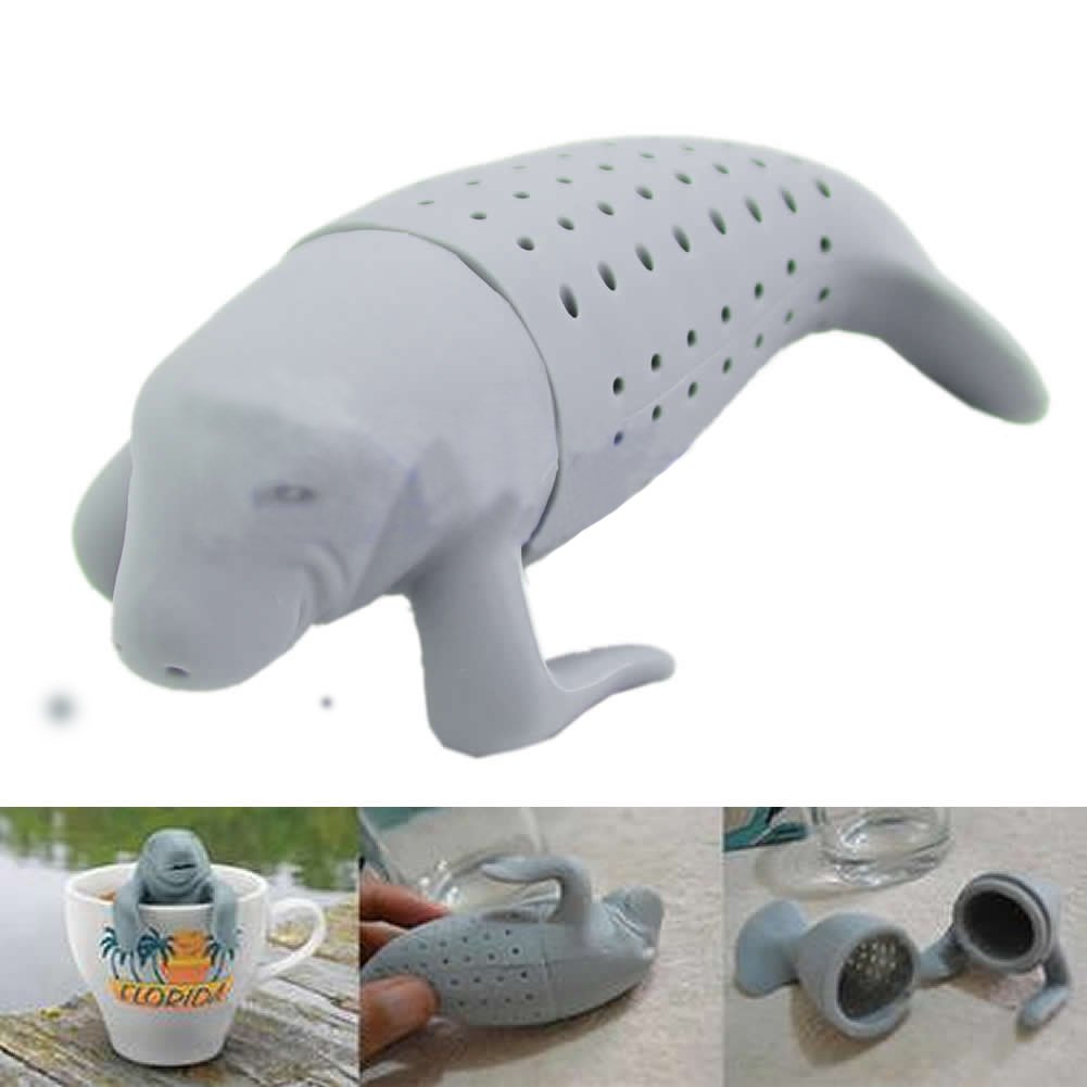 HeroNeo® Silicone Manatee Diffuser Infuser Loose Tea Leaf Strainer Herbal Spice Filter