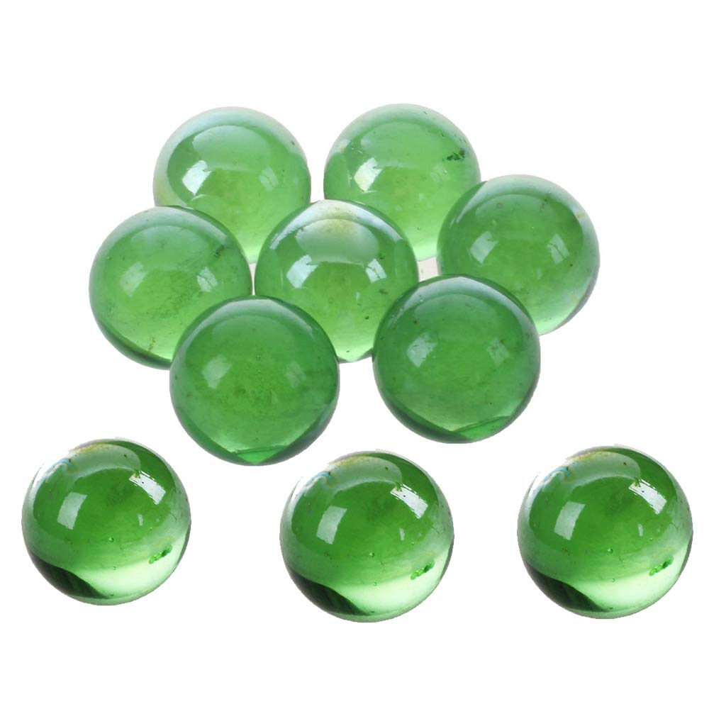 Tcplyn Premium Quality Glass Marbles - 10 Pcs Marbles 16mm Glass Marbles Knicker Glass Balls Decoration Color Nuggets Toy Green by Tcplyn (Image #1)