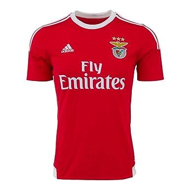 Adidas – Camiseta de fútbol SLB Benfica Home Jersey, Rojo/Blanco