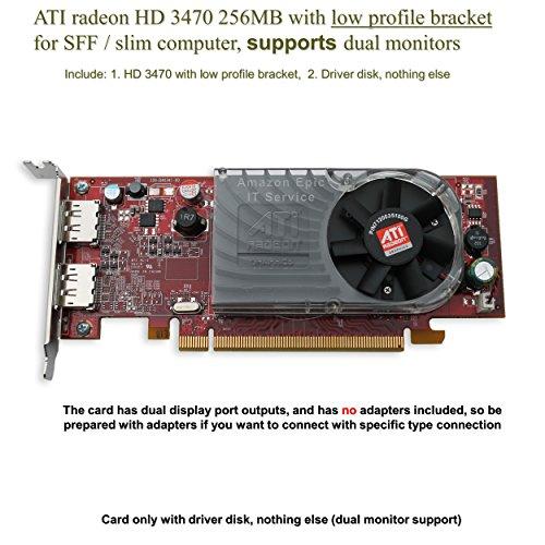 51tq0CQ9QHL - Dell ATI Radeon HD3470 256MB PCI-E x16 Display Port x2 Low Profile C120D U620G