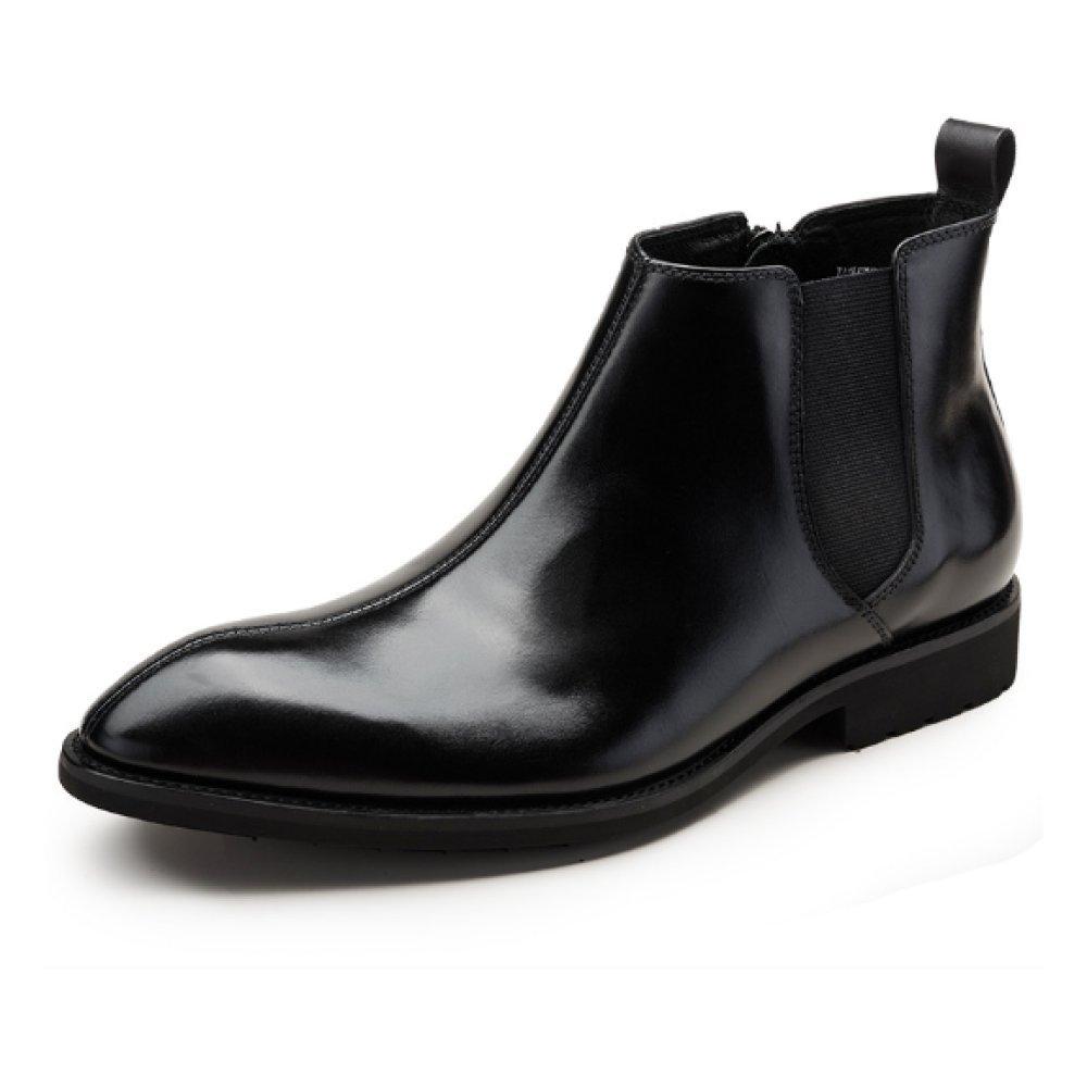 NIUMJ Hoch Oben Männer Lederschuhe Komfort Lederstiefel Stiefelies Martin Stiefel Atmungsaktiv Verschleißfest Erhöht