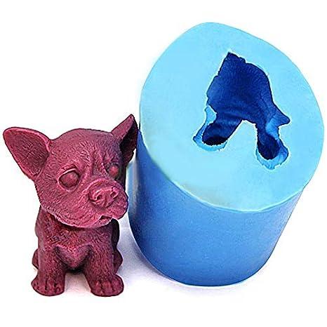 [envío gratuito] diseño de perro de silicona 3d molde para hornear fondant pastel Chocolate molde ...