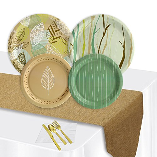 Rustic Chic Natures Path Outdoor Party Pack (16 Guest)