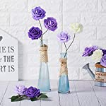 NT-NIETING-Roses-Artificial-Flowers-25pcs-Real-Touch-Artificial-Foam-Roses-Decoration-DIY-for-Wedding-Bridesmaid-Bridal-Bouquets-Centerpieces-Party-Decoration-Home-Display-SeriesC-Purple