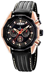 Festina F16384/3 - Reloj cronógrafo de cuarzo para hombre con correa de piel, color negro