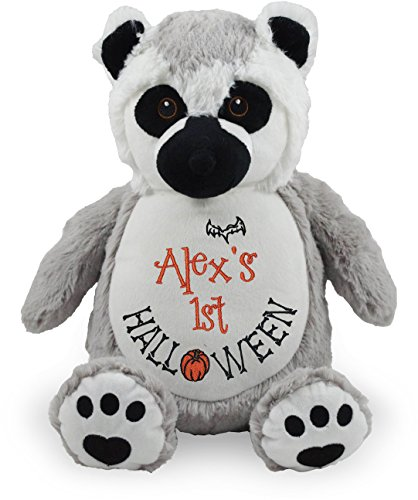 Personalized Stuffed Lemur, Embroidered for Child's First Halloween -