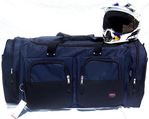 Wingsmarketshop Deluxe Snowmobile XL Motorcycle Atv Gear Bag Motocross Off Road Dirt Bike Premium Navy Blue NEW!