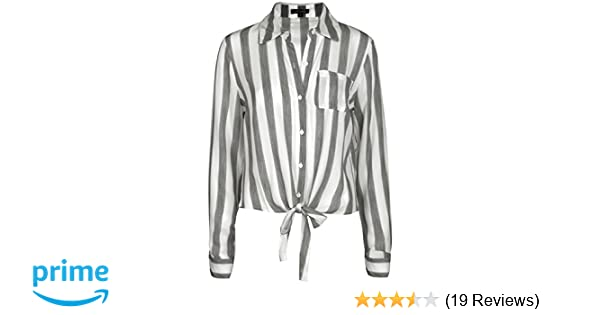 36d528e7f62 Michel Womens Long Sleeve Shirts Blouse Casual Tie Front Shirts at Amazon Women s  Clothing store