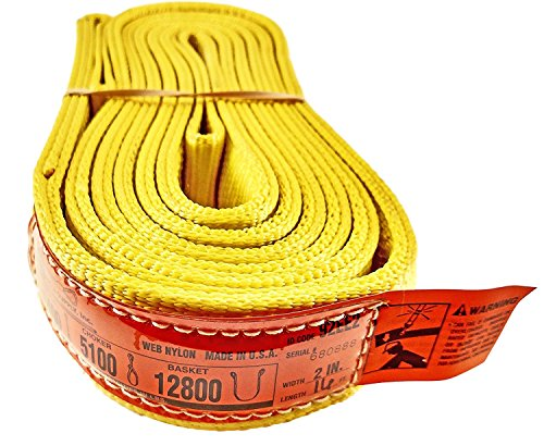DD Sling Eye /& Eye USA Made Heavy Duty Flo Guard 2 Ply Polyester Lifting Slings 2,600 Choker 1 x 3 6,400 Basket Load Capacity 3,200 lbs Vertical 1 x 3