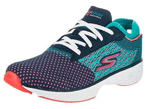 Skechers Performance Womens Go Sport Walking Scarpa Navy / Aqua