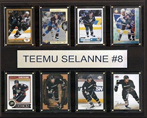 (NHL Anaheim Ducks Teemu Selanne 8-Card Plaque, 12 x 15-Inch)