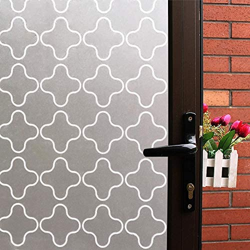 Mikomer Non Adhesive Privacy Window Film, Static Cling Glass Film, Frosted Window Cling, Removable Heat Control Anti UV Decorative Door Film for Office and Home Decoration,35 inches by 157 inches