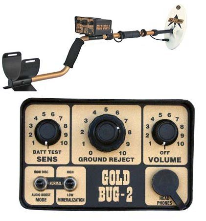 Fisher Gold Bug-2 Metal Detector with 6 1/2' Elliptical Search Coil