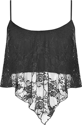 WearAll Womens Lace Camisole Crop