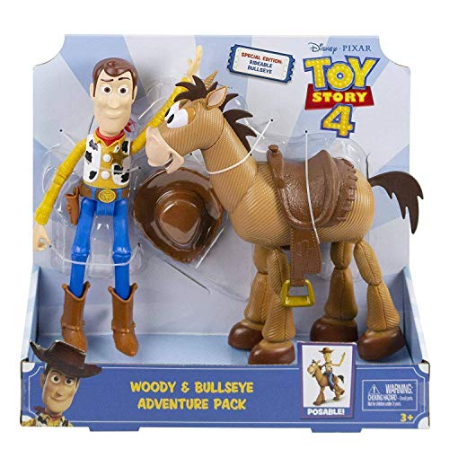 Toy Story 4 - Woody & Bullseye Adventure Pack - Re-Create The Movie Magic with This Special Edition Duo -