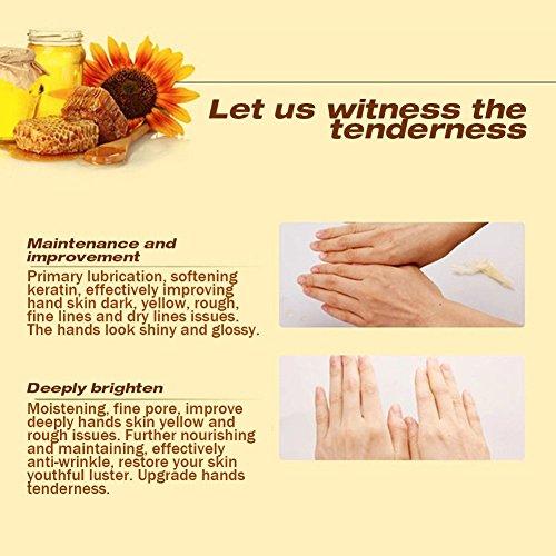 XY Fancy Hands Care ParaffinMilk & Honey Moisturizing Peel Off Hand Wax MaskExfoliate Hydrating Exfoliating Nourish Whitening Hand Mask Skin Care 150g by XY Fancy (Image #6)