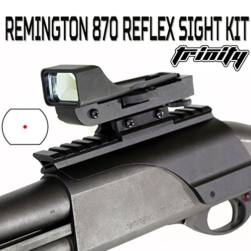 Trinity Red Dot Sight for Remington 870 Pump, Remington 870 Accessories, Single Rail Mount.