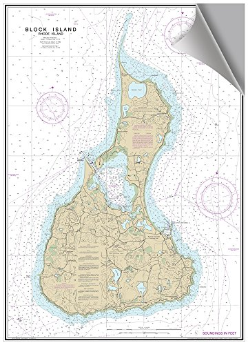 - MAPTECH Block Island, RI Decorative Nautical Charts