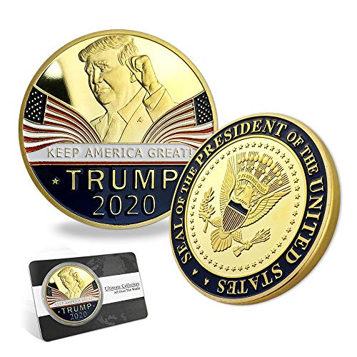 (Indeep Trump Coin 2020 Keep America Great - United States Presidential Challenge Coin Collectible)