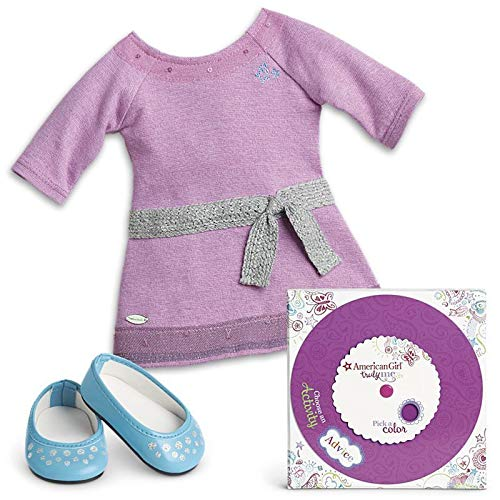 American Girl Truly Me Lilac Dress Outfit Activity Set 18