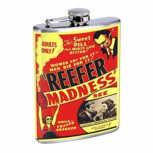 激安通販の Perfection Inスタイルステンレススチールフラスコ8オンスビンテージポスターd-019 Reefer Madness Madness 1936 B016B7H5GC Perfection B016B7H5GC, ハイバラグン:0006a034 --- domaska.lt
