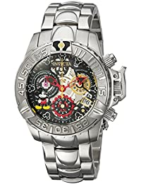 Women's 'Disney Limited Edition' Quartz Stainless Steel Casual Watch, Color:Silver-Toned (Model: 24506)