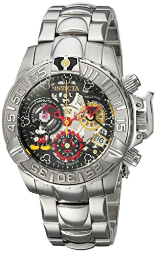 Invicta Women's 'Disney Limited Edition' Quartz Stainless Steel Casual Watch, Color:Silver-Toned (Model: 24506)