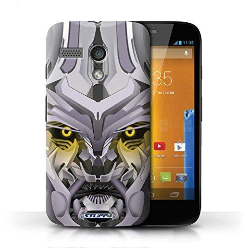 Etui / Coque pour Motorola MOTO G (2013) / Mega-Bot Jaune conception / Collection de Robots
