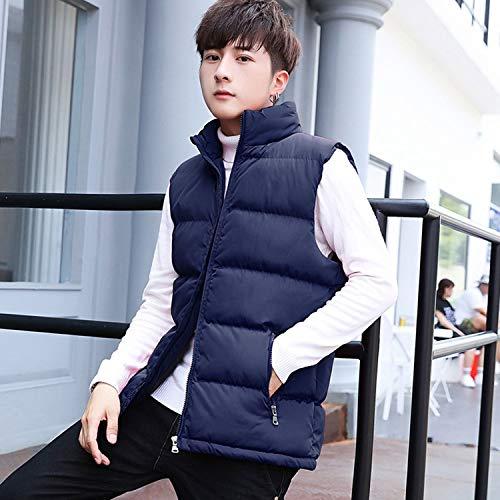 KEBINAI Vest Stand Cotton-Padded,Black,XL