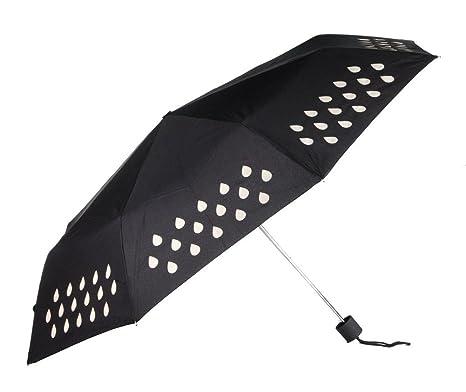DAYAN Paraguas bolsillo paraguas plegable paraguas sol que cambia color paraguas automático mágica multicolor C