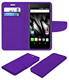 Acm Mobile Leather Flip Flap Wallet Case for Micromax Bolt Supreme 2 Q301 Mobile Cover Purple