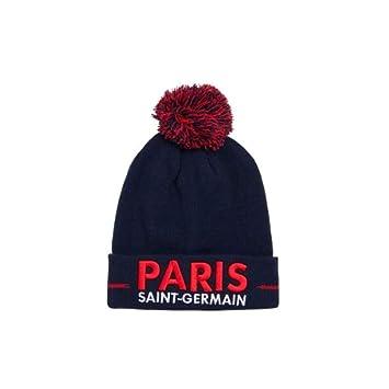 2c377c3b158 PARIS SAINT GERMAIN Bonnet Pompon PSG - Collection Officielle Taille Adulte