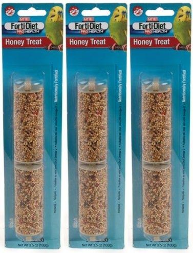 (3 Pack) Kaytee Parakeet Treat Stick, Honey (3.5 oz. Per Pack)