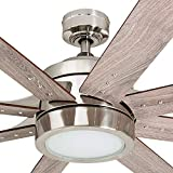 Honeywell Ceiling Fans 50608-01 Xerxes Ceiling Fan, 62, Brushed Nickel