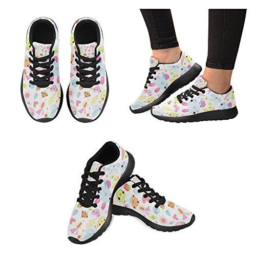 InterestPrint Womens Road Running Shoes Jogging Lightweight Sports Walking Athletic Sneakers Ice Cream Candy Gift qsEH7fyCF