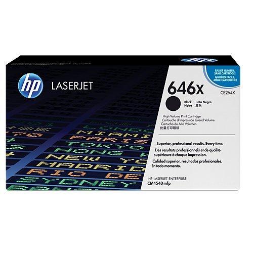 HP 646X (CE264X) Black High Yield Original LaserJet Toner Cartridge