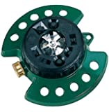 Dramm 15024 ColorStorm 9-Pattern Turret Sprinkler with Heavy-Duty Metal Base, Green