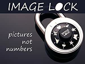 Combination Lock with Pictures- ImageLOCK – Patented Combination Lock (No Administrative Key) – Pictures Instead of Numbers – High Security, Double-Reinforced Stainless Steel Lock - Black & White