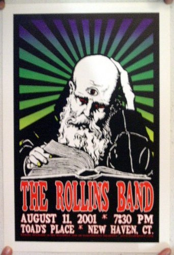 - The Henry Rollins Band Concert Gig Poster Handbill New Haven CT 8-11-01