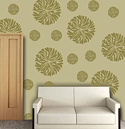 Buy Stencil for flower wall stencil ideas for painting, FS-16 Online ...