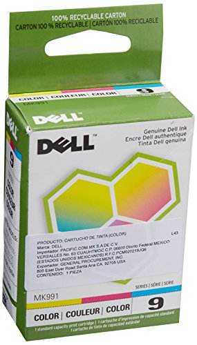 Dell 926 Photo - Dell Computer MK991 9 Standard Capacity Color Ink Cartridge for 926/V305