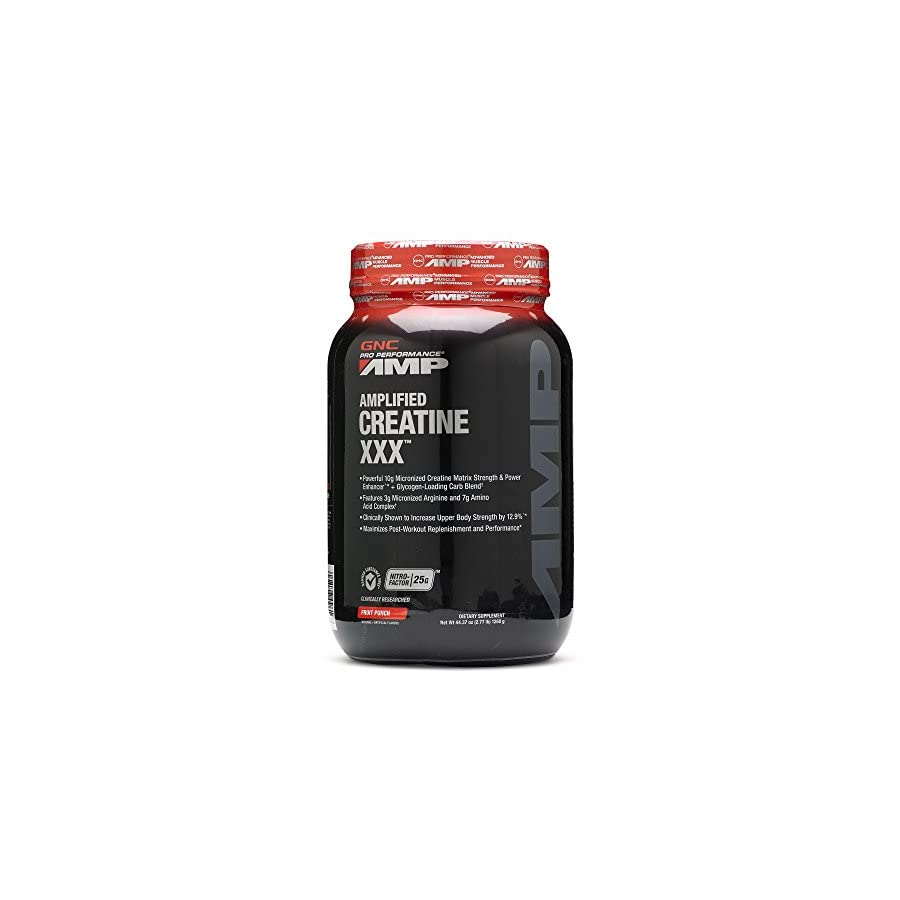 GNC Pro Performance AMP Amplified Creatine XXX Fruit Punch 2.77 lbs.