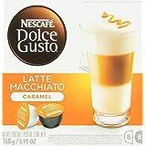 NESCAFÉ Dolce Gusto Caramel Latte Macchiato 16 Capsules (Pack of 3, Total 48 Capsules, 24 Cups)